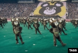 Церемония открытия Олимпийских игр в Москве в 1980 году
