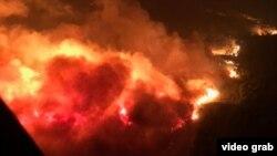Pamje e zjarrreve në Kaliforni