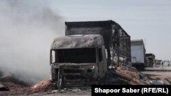 خسارات وارده ناشی از آتشسوزی در گمرک اسلام قلعه. Feb 15 2021