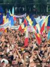 Iunie 1989, Chişinău. Unul din mitingurile organizate de Frontul Popular din Moldova la care s-a cerut noi legi care să declare limba moldovenească limba oficială a statului. / FOTO de Serghei Voronin