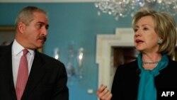 هیلاری کلینتون در کنفرانس خبری مشترک با همتای اردنی خود