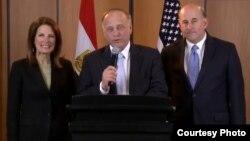 أعضاء وفد القياديين في الكونغرس الأميركي الى مصر