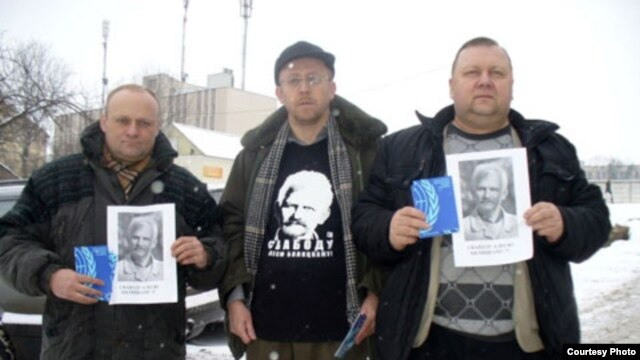 Three Belarusian human rights activists were convicted of participating in an unauthorized demonstration after a picture of them appeared online.