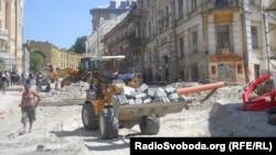Будівельно-ремонтні роботи на Андріївському узвозі