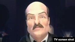 Александра Лукашенконың бейнесі - мультфильмдердің бірінің кейіпкері ретінде.