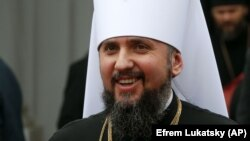 The new Orthodox Church of Ukraine installed its first metropolitan, Epifaniy, at a ceremony in Kyiv on February 3.