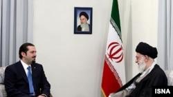 Iranian Supreme Leader Ayatollah Ali Khamenei (right) met with Lebanese Prime Minister Saad Hariri, son of slain former Prime Minister Rafiq Hariri, in Tehran, Tehran five years after the assassination.
