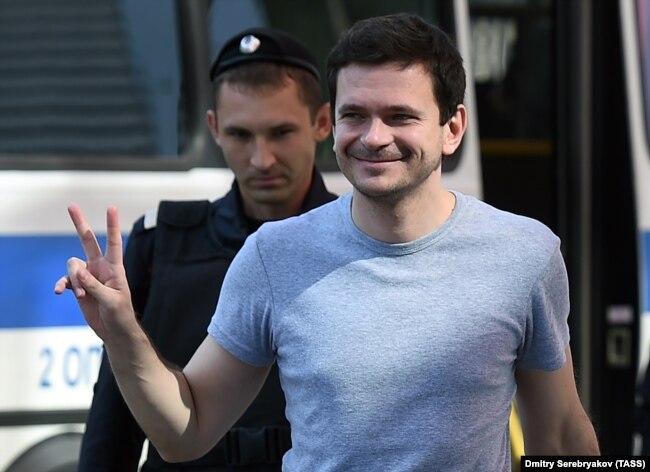 Оппозиционный политик Илья Яшин