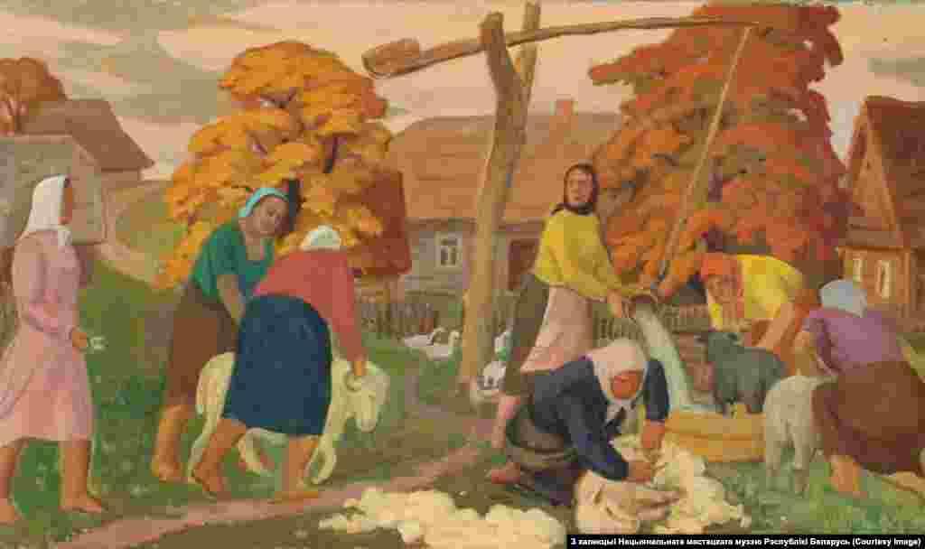 Міхась Сеўрук.Стрыжка Авечак. 1939