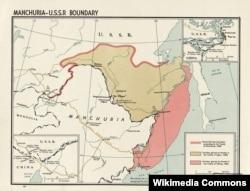 Території, що відійшли до Росії через Айгунський і Пекінський договори з Китаєм