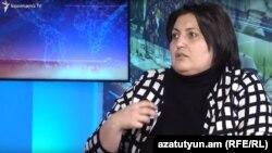 Armenia - Nina Karapetiants, lawyer and human rights activist, is interviewed by Azatutyun TV, Yerevan,23Feb,2020