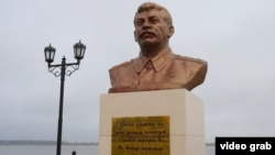 The Stalin bust in Surgut was erected without official permission, city officials said.