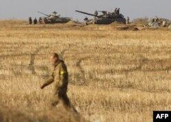 Позиции украинской армии под Донецком