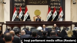 Members of the Iraqi parliament in Baghdad on January 5