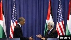 Американскиот претседател Барак Обама и палестинскиот претседател Махмуд Абас