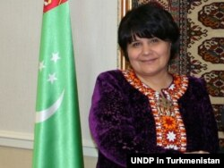 Turkmen parliamentary speaker Akja Nurberdieva's recent visit to Russia received scant media attention. (file photo)