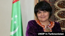 Акджа Нурбердыева, Түркіменстан парламентінің төрайымы.