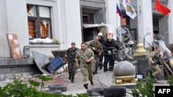 Украина -- Луганскидеги орусиячыл жикчилдер. 2-июнь, 2014