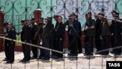 Заключенные в исправительно-трудовой колонии. Владимирская область
