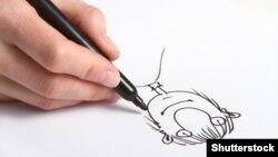 Adamyň karikaturasy.