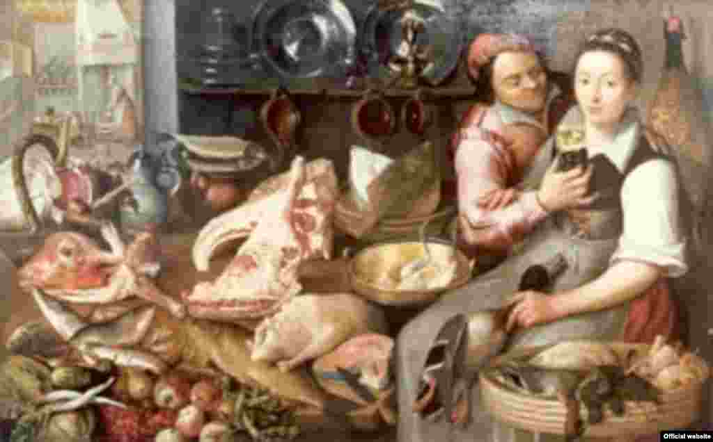 Floris van Schooten, Kitchenscene, 17th century
