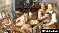 Ukraine -- News illustration Painting, Floris van Schooten, Kitchenscene, 17th century