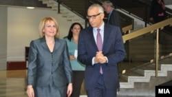 Средба на вицепремиерката за европски прашања Теута Арифи со Директорот на генералниот директорат за проширување на Европската комисија, Стефано Санино
