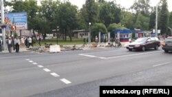 Рамонт прыпынку на вуліцы Савецкай