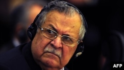 Iraqi President Jalal Talabani was hospitalized late on December 17.