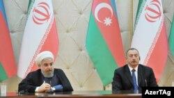 Azərbaycan və İran prezidentləri bəyanatla çıxış edirlər. 07.08.2016