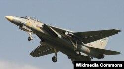 یک فروند جت جنگنده مدل اف-۱۴ آ، متعلق به نیروی هوایی ایران.