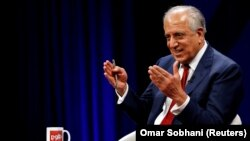 """U.S. peace envoy Zalmay Khalilzad said on December 12 that U.S. officials are taking a """"brief pause"""" in peace talks with the Taliban. (file photo)"""