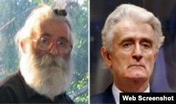 Радован Караджич до и после ареста, 31 июля 2008 г.