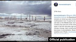 لئوناردو دی کاپریو عکسی از آلبوم سولماز دریانی درباره دریاچه اورمیه را در صفحه اینستاگرام خود منتشر کرده است .