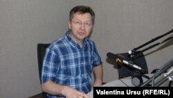 Veaceslav Negruță în studioul Europei Libere de la Chișinău