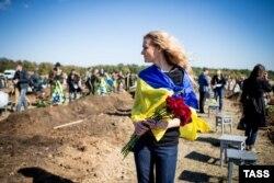 Похорони українських військових, загиблих на Донбасі. Запоріжжя, жовтень 2014 року