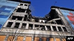 Бывшее здание МВД в Белграде, пострадавшее от бомбардировок в 1999 году