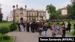Похороны Гиги Отхозория, которые прошли в Зугдиди 26 мая