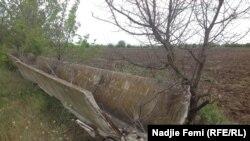 В крымском селе Новый Мир лотки, по которым вода поступала в поля, были уничтожены