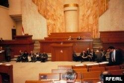 Авальная заля 11 красавіка 1995 году