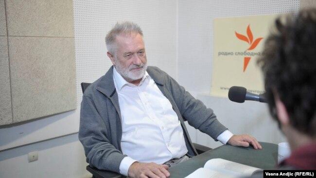 Rastko Močnik u beogradskom studiju RSE