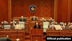 Kosovo - Annual speech of the president Atifete Jahjaga at the Parliament of Kosovo