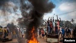 Очередные массовые волнения в столице ЦАР Банги.
