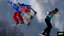 Орусия -- Роза Хутор лыжа базасындагы мелдештер, Сочи, 16-февраль, 2014.