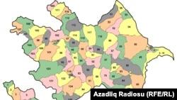 Azərbaycanda rayonlar üzrə seçki dairələri