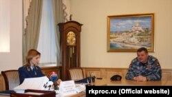 На встрече Натальи Поклонской с бойцами «Беркута»