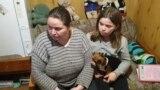 Russia - Yelena Perchikova and her daughter Tasya, Tomsino, in Pskov Oblast - video about letter to Putin - screen grab