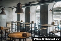 The interior of the Citizen restaurant in St. Petersburg