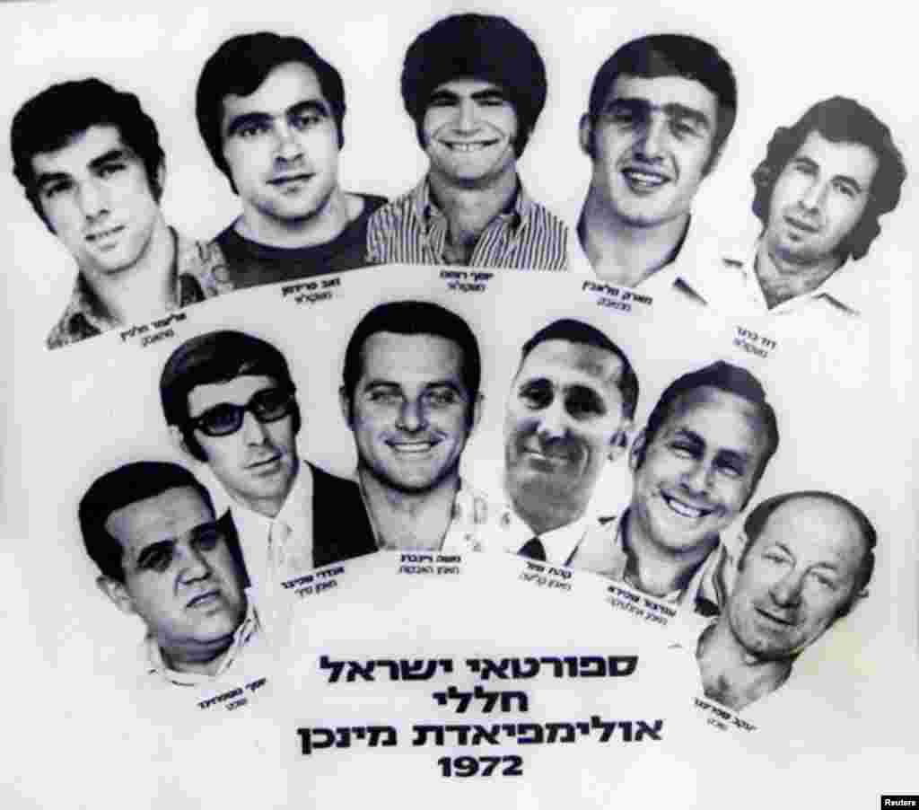 The 11 Israeli Olympic athletes and coaches who were killed by the Palestinian Black September gunmen.
