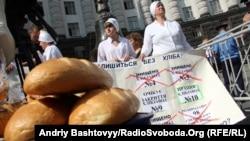 Протест працівників хлібозаводу під Кабінетом міністрів, Київ, 12 червня 2013 року